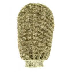 Massage handschoen tweezijdig linnen / badstof