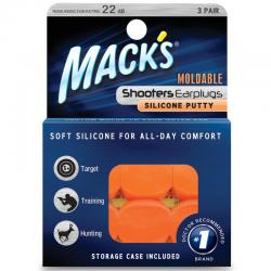 Shooters moldable earplugs orange