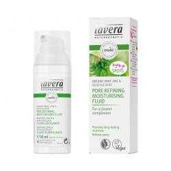 Moisturizing fluid pore refining organic mint