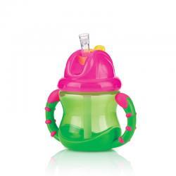 Flip-It antilekbeker met handvatten 12m+ groen