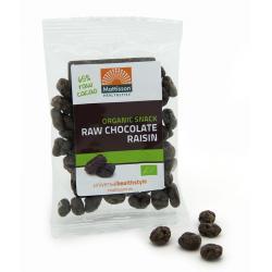 Rozijnen snack raw chocolade