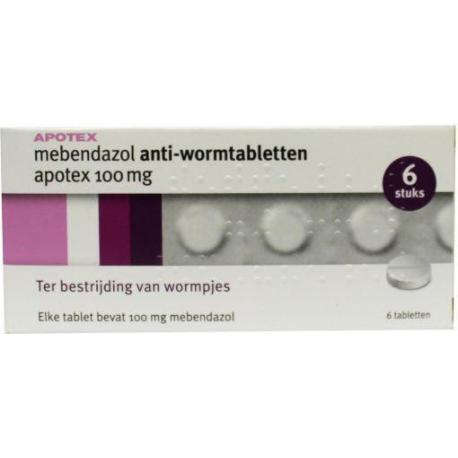 Mebendazol anti-wormtabletten 100 mg