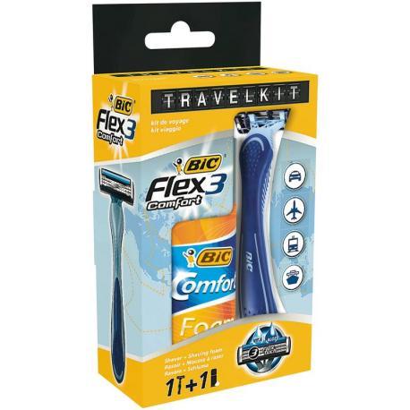 Travelkit Flex 3 + Comfort Foam Sensitive 90 ml