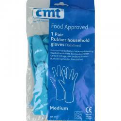 Huishoudhandschoen rubber blauw M