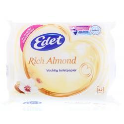 Vochtig toiletpapier rich almond navul