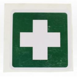 Sticker groen wit kruis