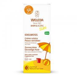 Edelweiss zonnecreme gevoelige huid SPF50