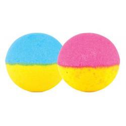Bath ball double dip