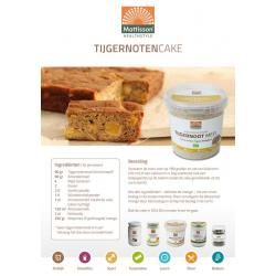 Receptkaart A5 tijgernotencake