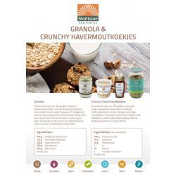 Receptkaart A5 granola en havermoutkoekjes